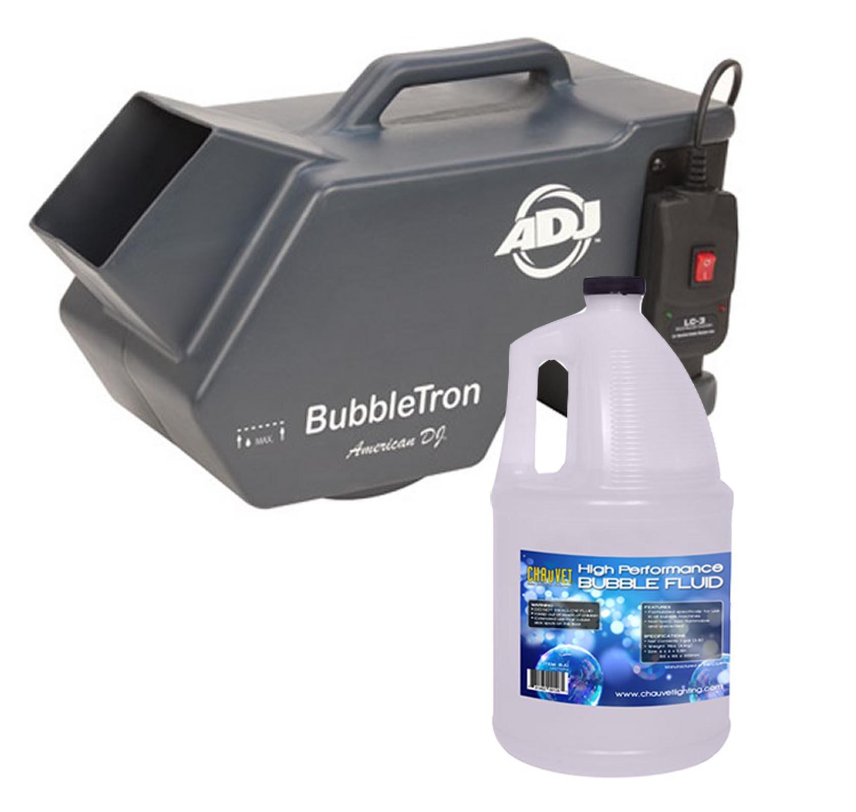 American DJ Bubble Tron Bubbletron High Output Bubble Machine w/ Remote + Fluid