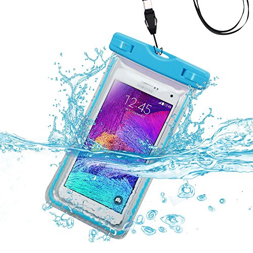 Avarious Waterproof Pouch Bag for ZTE Blade X Max, 6.0-inch, Sky Blue (X-blade Window Case)