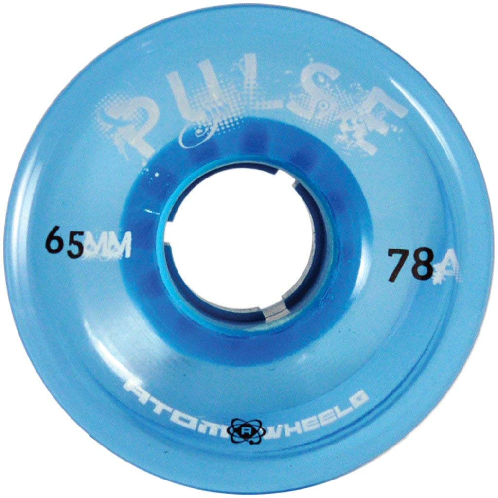 Atom Skates Pulse Outdoor Quad Roller Wheels 78A, Blue, Set of 8, 65mm x 37mm