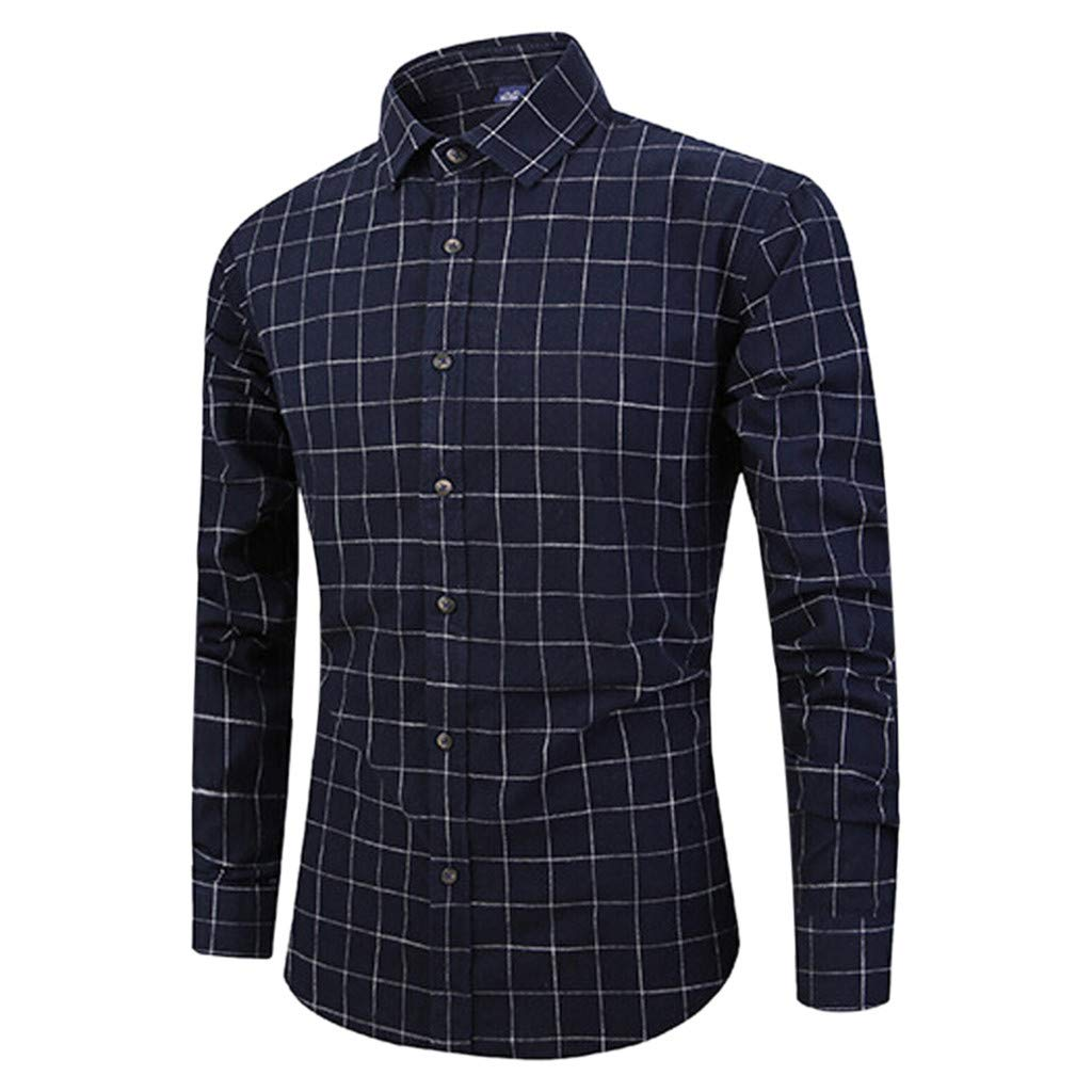 Palarn Mens Fashion Sports Shirts Mens Long Sleeve Lattice Button Painting Large Size Casual Top Blouse Shirts