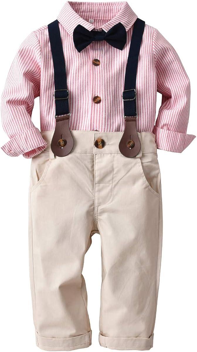 Pantalon Ensemble de v/êtements pour b/éb/é gar/çon avec Chemise et n/œud Papillon Tenue Formelle de 1 /à 5 Ans