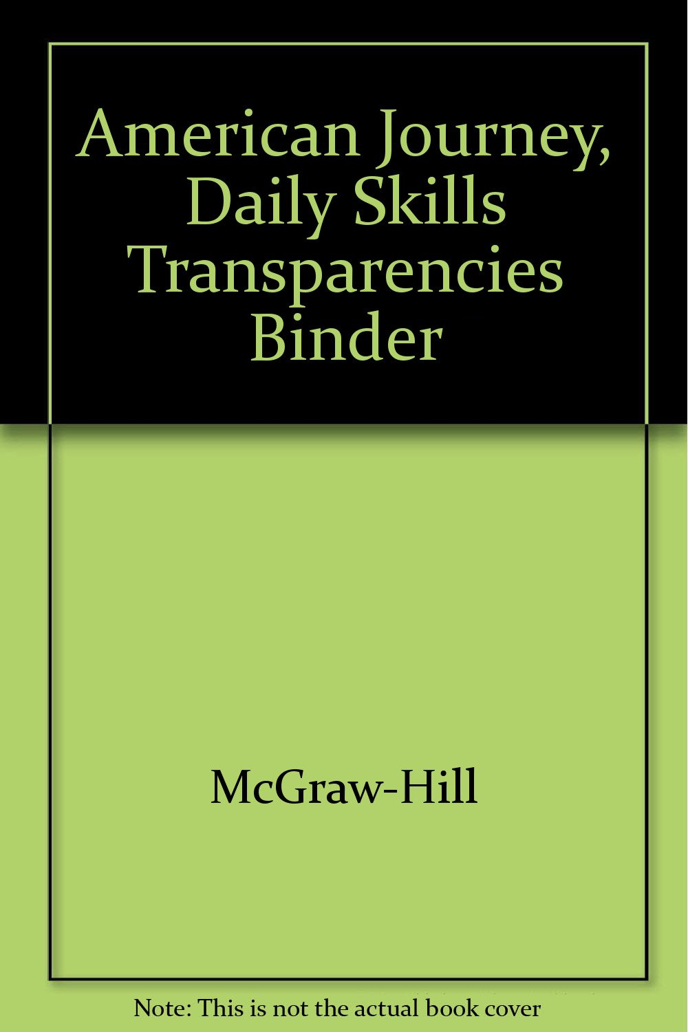 American Journey, Daily Skills Transparencies Binder PDF