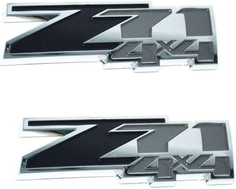Red Black 2Pcs 3.3 Metal Z71 4x4 Sticker Emblem Badge Replacement for Silverado Sierra Tahoe