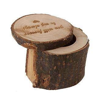 Amazon Com Tinksky Wooden Ring Box Rustic Wedding Ring Holder
