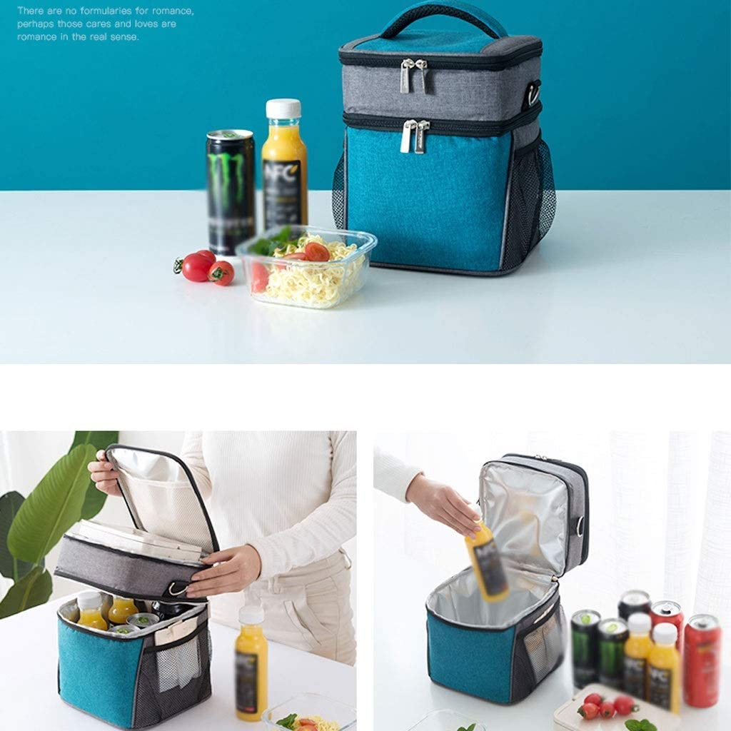 ZLJ Picnic Backpack Tote all'aperto Ispessimento Picnic Bag Portatile Lunch Box Lunch Bag Camping dispositivi di Raffreddamento Cold Storage Isolamento Pacchetto Lunch Bag C