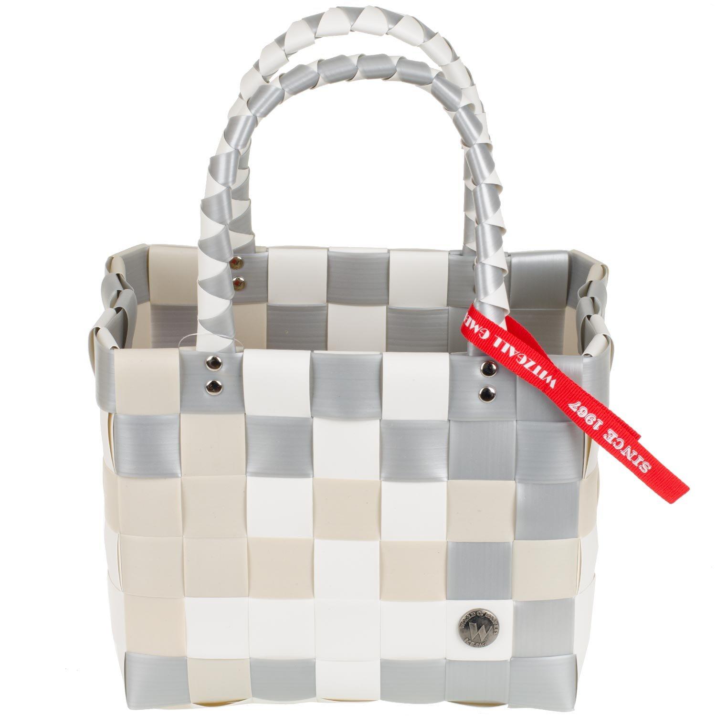 Mini Shopper Ice-Bag Argos-Minis Witzgall Ice-Bag, kleiner Einkaufskorb - creme/silber Mini Ice-Bag 5008
