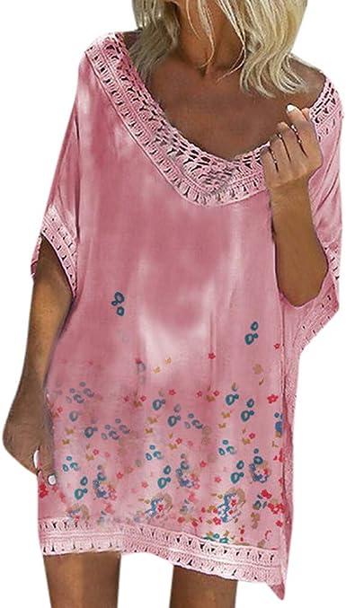 Aini Vestido De Verano De Las SeñOras Falda Suelta Camiseta ...
