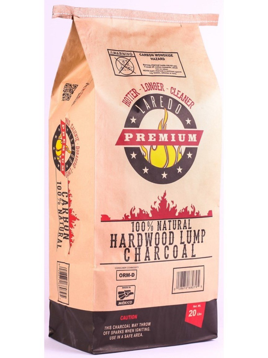 Laredo Premium - All Natural Hardwood Lump Charcoal (1, 20 lbs)