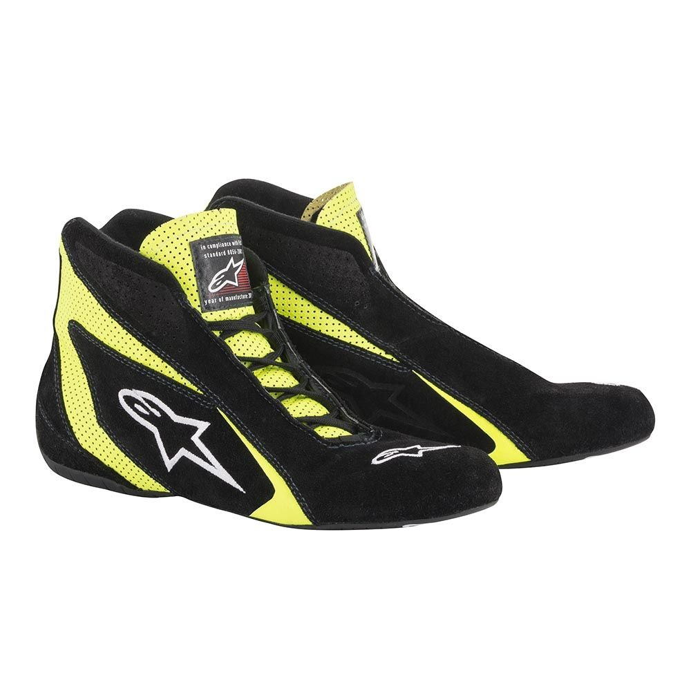 Alpinestars Mens Race Driving Shoes and Boot Black, Size 9.5