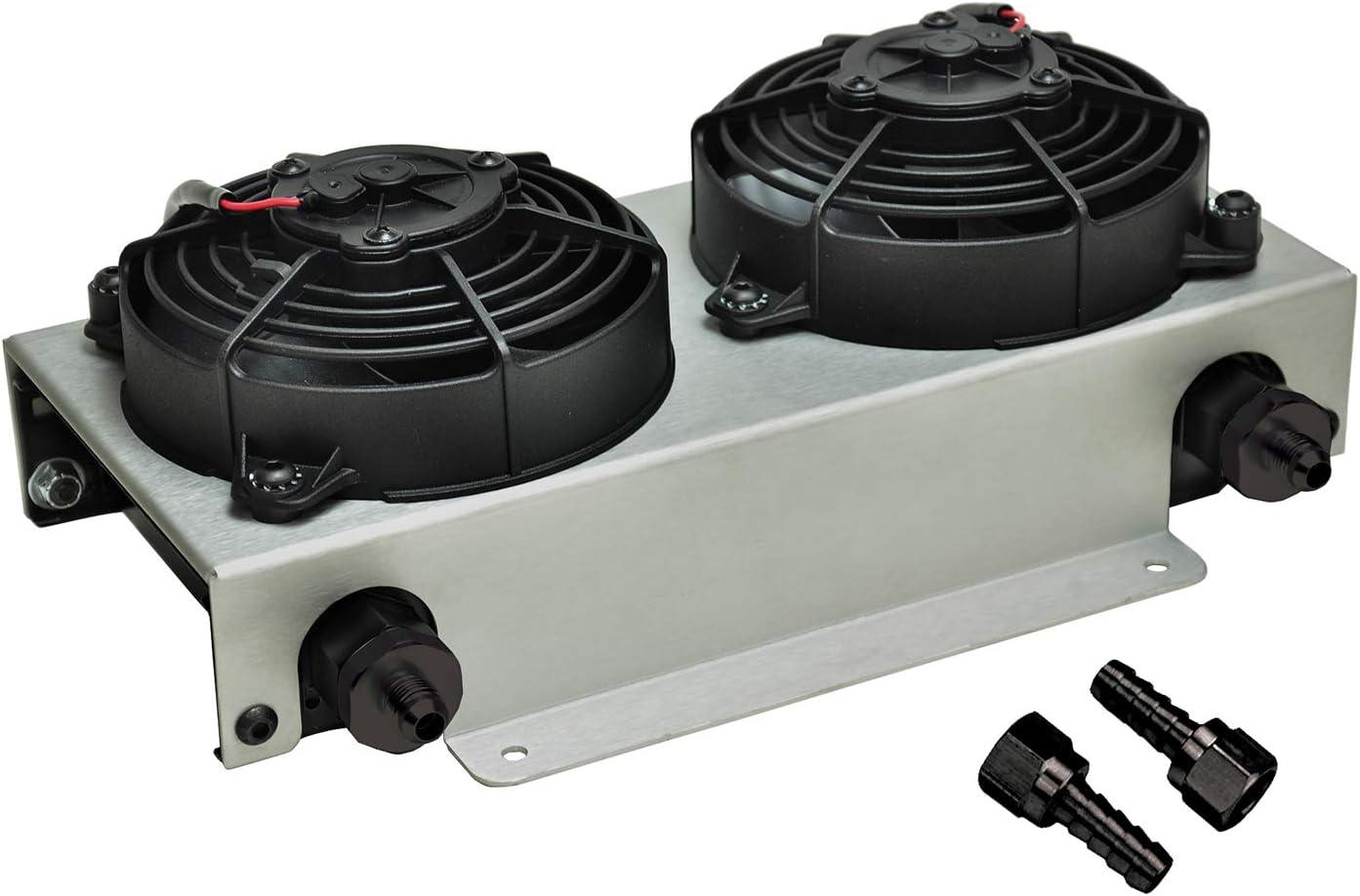 Derale 13740 Hyper Dual-Cool Remote Cooler