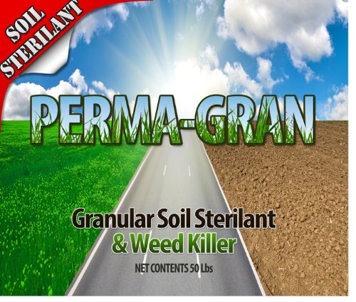 Weed Killer - PERMA GRAN - Industrial Strength Soil Sterilant and Weed Killer - 50 Pound Pail by Chemco