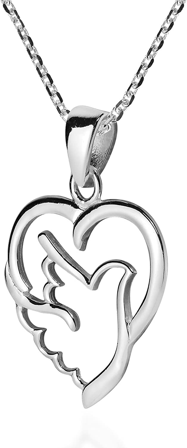 AeraVida Holy Spirit Dove of Love and Peace .925 Sterling Silver Necklace