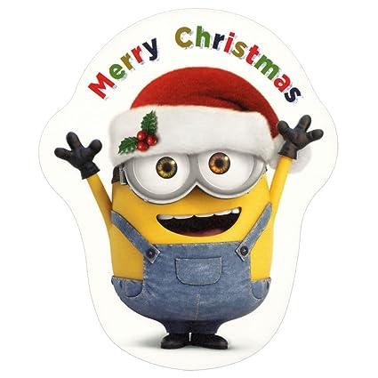 Amazon クリスマスカード 洋風 ダイカットカード X34 012 ミニオン