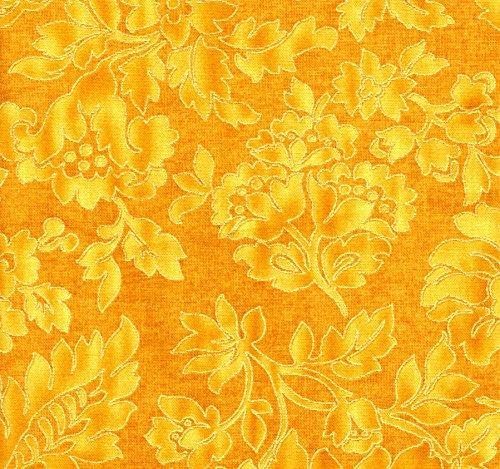 Timeless Treasures Brocade Gold CM4263 Cotton Fat Quarter - 18' Blender