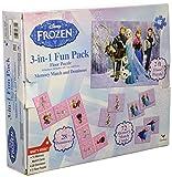 Disney Frozen 3-in-1 Activity Game Box - Puzzle, Floor Dominoes, Memory Match