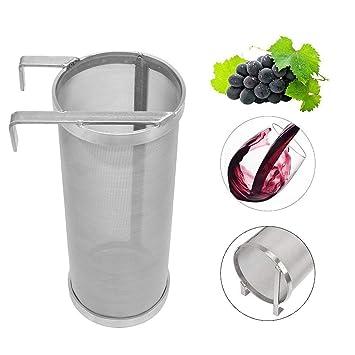 Signstek - Filtro de vino de acero inoxidable con agarre de ...