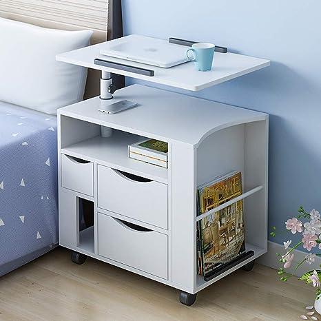 Mesitas de noche, escritorio de almacenamiento de mesa de noche de ...