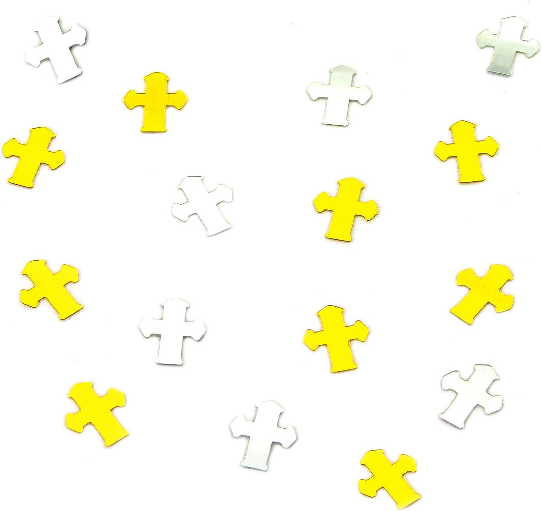 Oblique-Unique/® Kreuze Silber und Gold Streu Deko Tischdekoration f/ür Konfirmation Taufe Kommunion