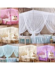 hudiemm0B Romantic Princess Lace Canopy Mosquito Net No Frame for Twin Full Queen King Bed White Full