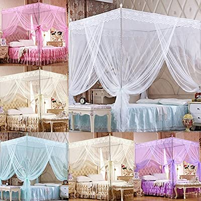 Lace Bed Canopy Insect Mosquito Net Netting Tent for Twin Full Queen King Size