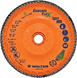 Walter Surface Technologies 15Q458 Enduro-Flex Stainless Abrasive Flap Disc, Type 29, 80 Grit, 7/8'' Arbor, Trimmable Wood Fiber Backing, Zirconia Alumina (Pack of 10)