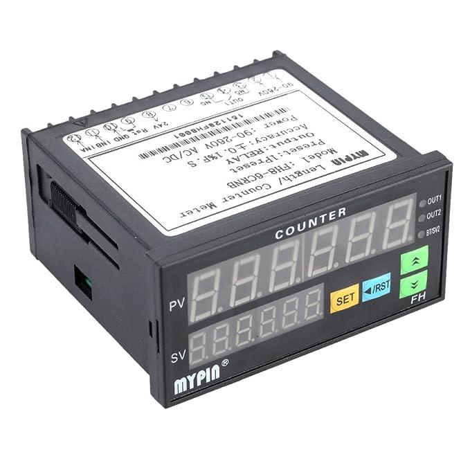 Pegcdu Contador digital mypin FH8-6CRNB 6 con interruptor de proximidad Longitud de lote del sensor NPN Mini Medidor electrónico: Amazon.es: Bricolaje y ...