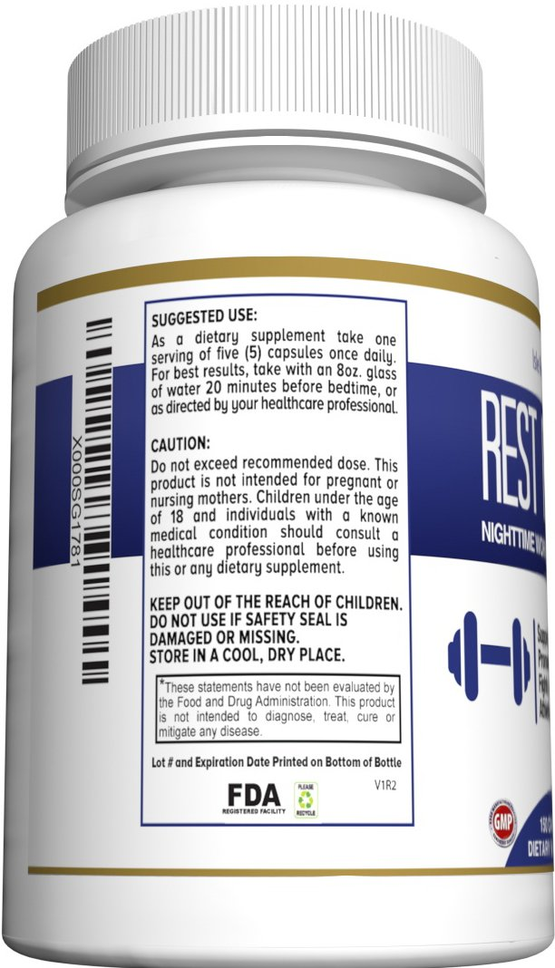 Glutamine BCAA Capsules, Post Workout Muscle Recovery and Sleep Supplement, A Blend of L-Glutamine and Amino Acids, All Natural Pills for Men and Women (150 Capsules, 30 Day Supply) - Rest Repair by Isle Revive (Image #4)