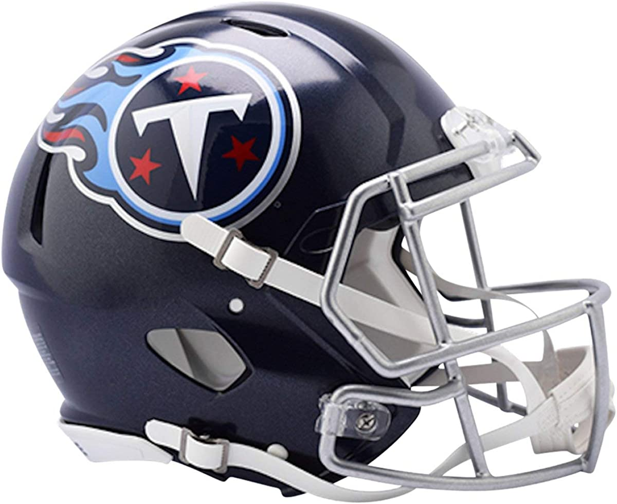 Amazon Com Riddell Nfl Tennessee Titans Speed Authentic Football Helmet Clothing