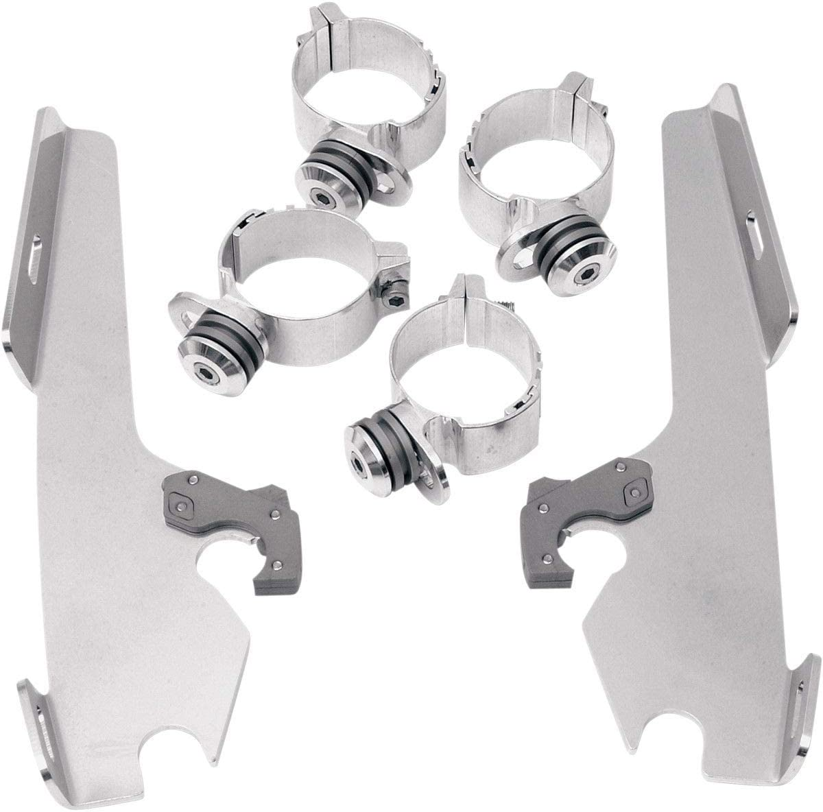Memphis Shades MEM8969 Polished Trigger-Lock Mount Kit for Yamaha XVS1300A and XVS950 V-Star 2007-2015