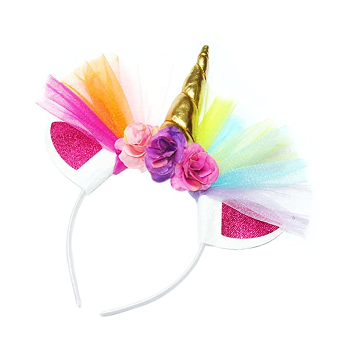 Amazon.com: leecco Colorful Unicorn Fashion Diadema Chica ...