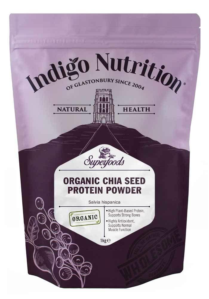 Indigo Herbs Polvo ecológico de Proteína de Semilla Chia 1kg ...