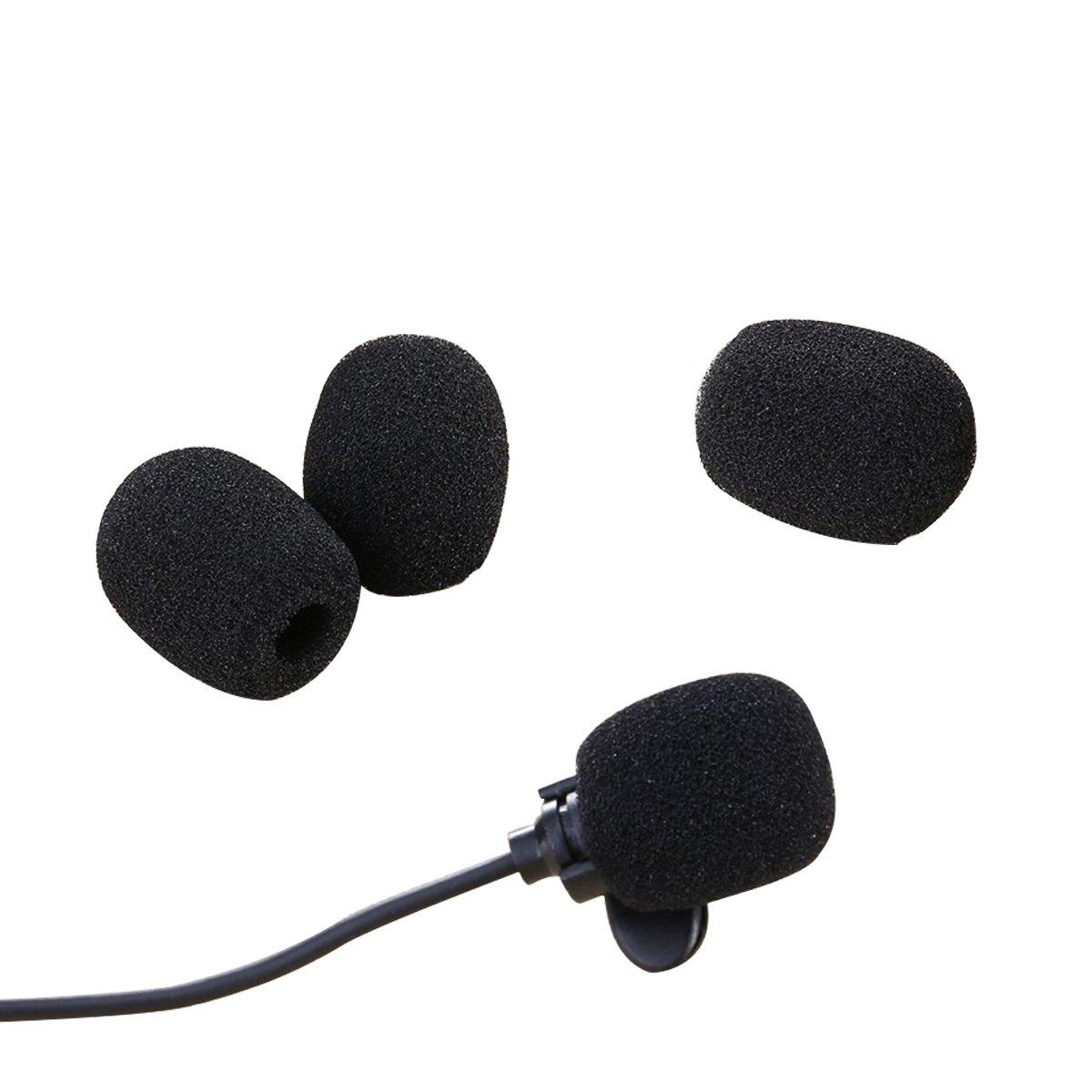 Pantallas Antiviento de Micr/ófono Auriculares de Solapa Mini Tama/ño 15 Piezas Cubiertas de Micr/ófono de Espuma