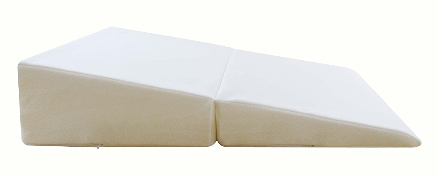 pillow swisslux free memory shipping bath bedding foam gel overstock coated today cooling wedge product bed with