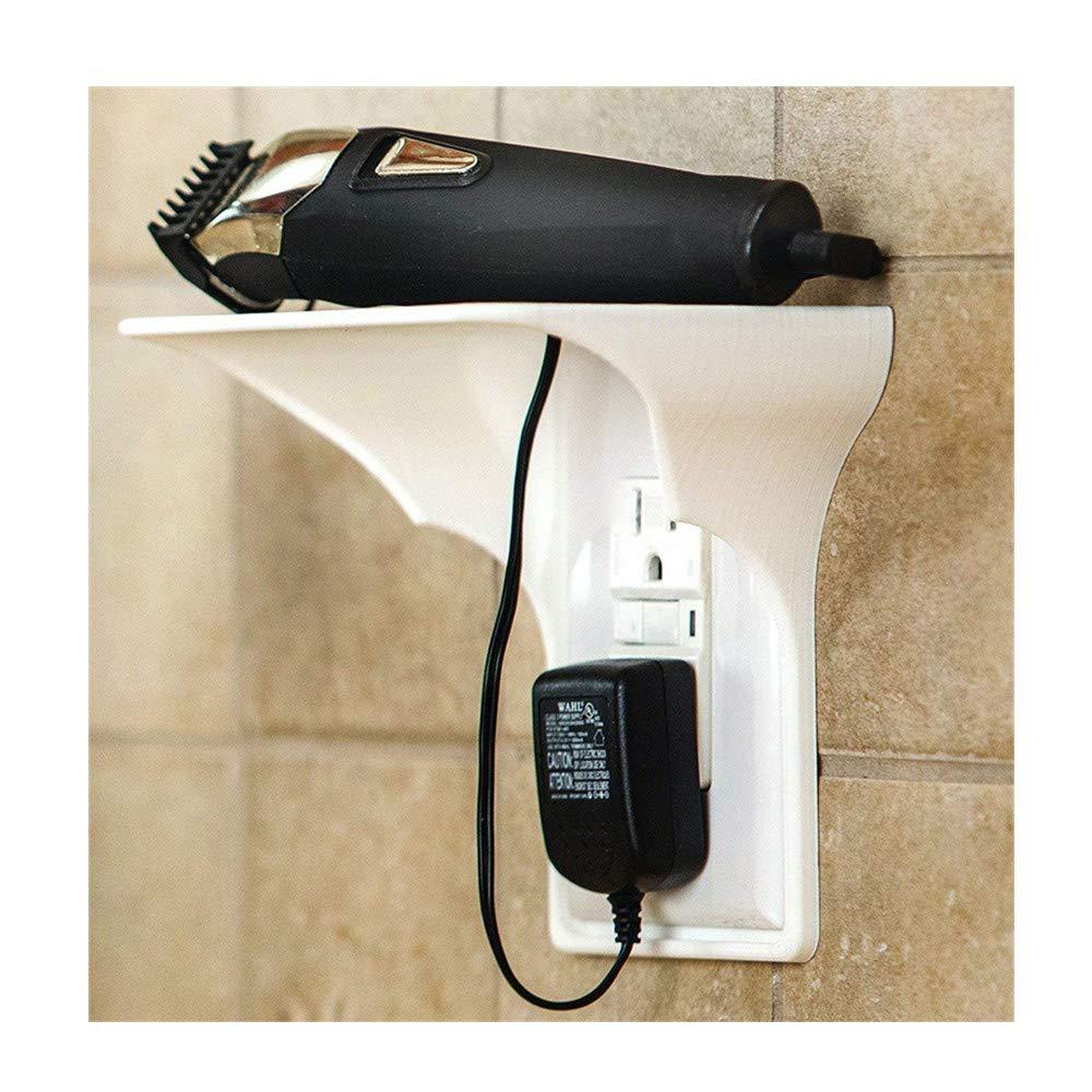 Makaor Outlet Shelf,Power Perch,Ultimate Outlet Shelf Easy Installation Wall Outlet Shelf Power Perch Ultimate Shelf (White