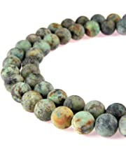 JARTC Natural African Blood Jade Round Loose Beads for Jewelry Making DIY Bracelet Necklace 4mm