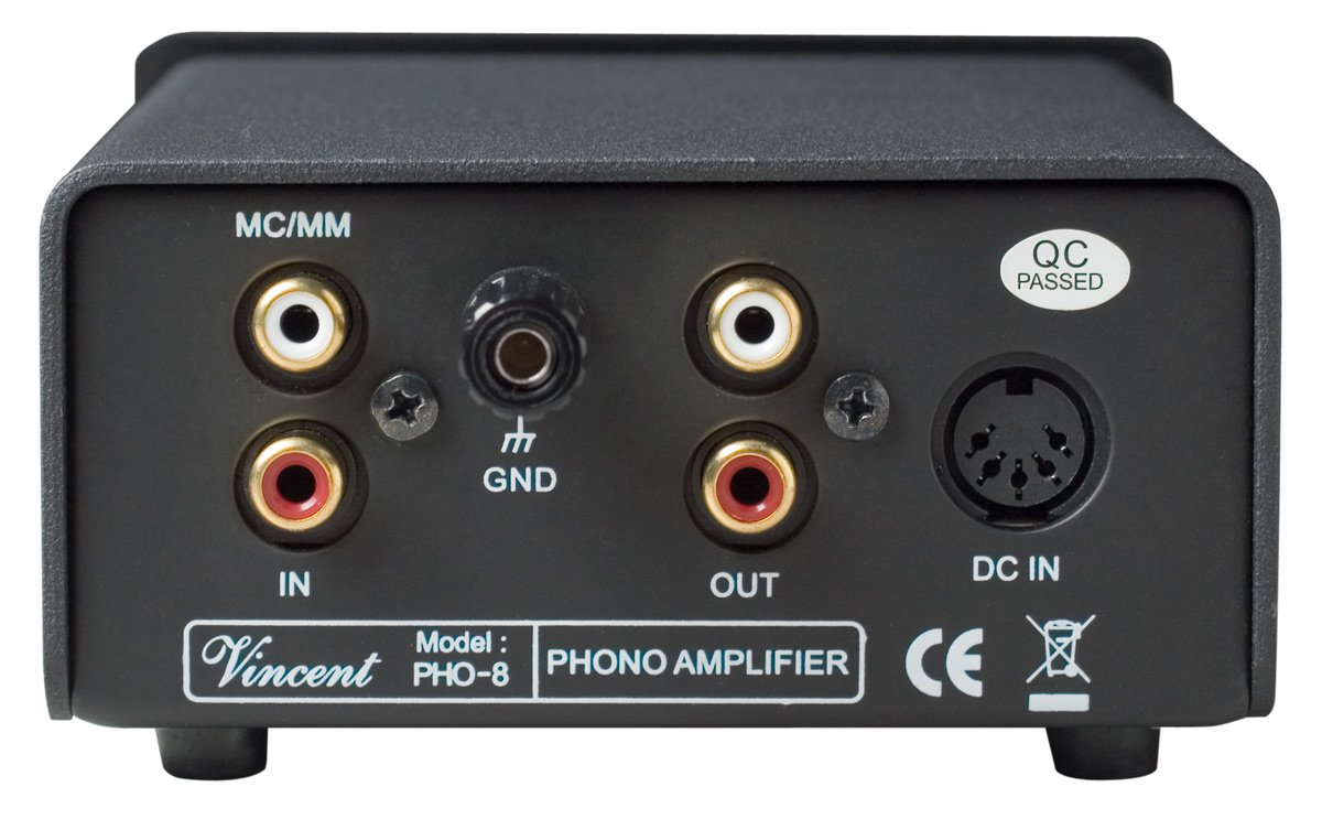Vincent PHO 8 Phono Stage MM/MC Outboard Power Supply Black by Vincent (Image #2)