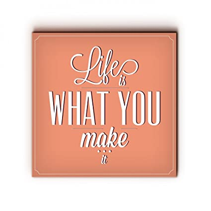 Amazon Com Nish Wooden Wall Art Painting Poster Prints With Quotes