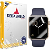 Apple Watch Screen Protector (38mm Series 3/2/1 Compatible)[6-Pack], DeltaShield BodyArmor Full Coverage Screen Protector for Apple Watch Military-Grade Clear HD Anti-Bubble Film