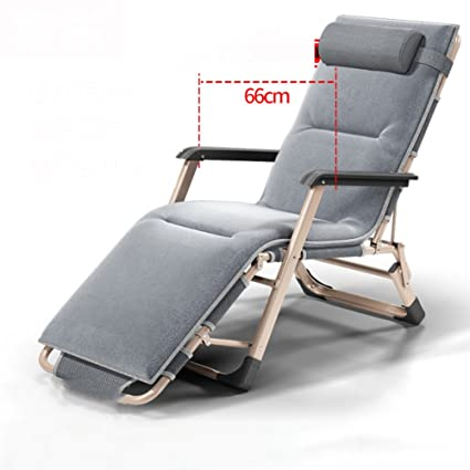 Lu0026J Patio Lounger Chair, Office Zero Gravity Chaise Lounges Adjustable  Folding Chairs, Balcony Garden