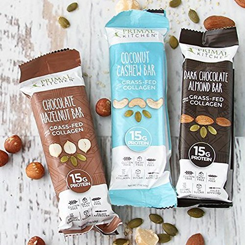 Primal Kitchen – Coconut Cashew, Dark Chocolate and Hazelnut Protein Bars, Variety 3 Pack – Made with Grass–Fed Collagen (Protein), Hazelnuts & Organic Fair–Trade Cocoa (18 Bars Total) by Primal Kitchen (Image #4)