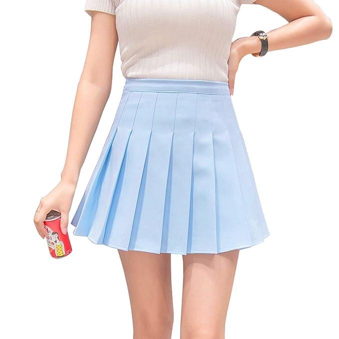 Hoerev Mujeres Corto Cintura Plisada Falda de la Escuela de Tenis Skater   Amazon.es  Ropa y accesorios 240f26946903