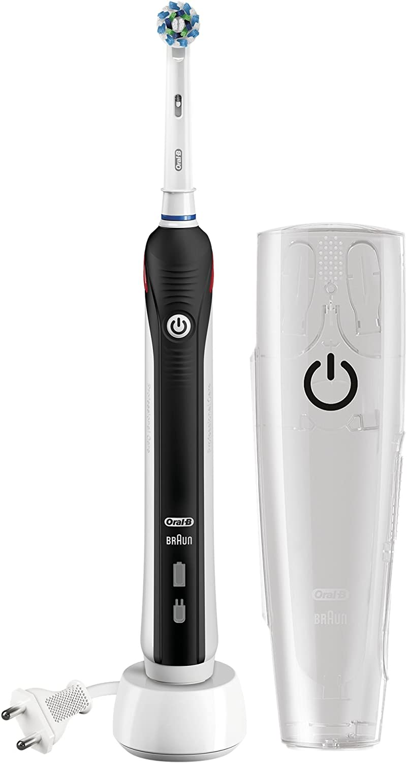Oral B Pro 2500 Cross Action Electric Toothbrush Rechargeable Gift Pack Black Edition Amazon Co Uk Health Personal Care