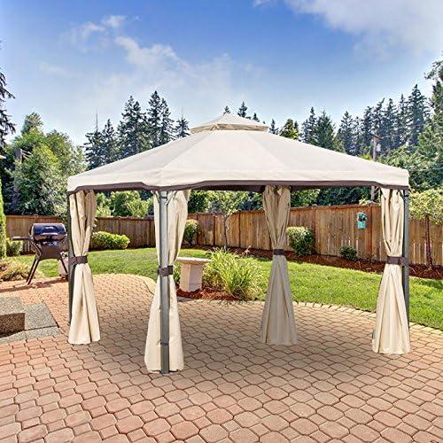 Garden Winds Bergamo Gazebo Replacement Canopy Top Cover