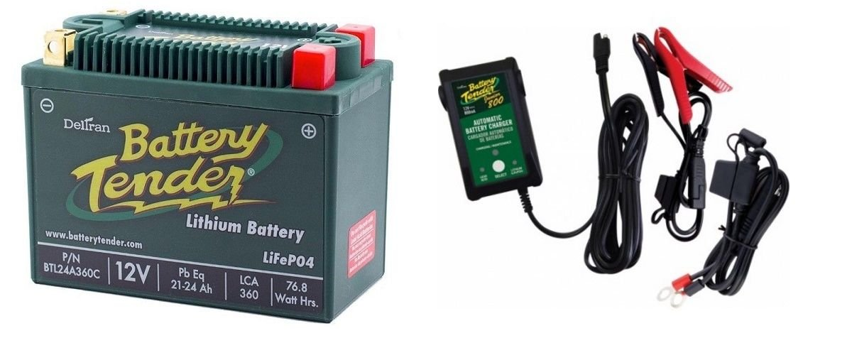 BTL24A360C Lithium 12V 360 CCA + Battery Tender Junior 800 022-0199-DL-WH Combo Deltran