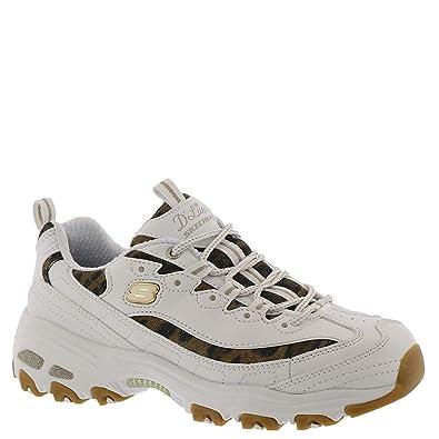 d7147f4d5e37 Image Unavailable. Image not available for. Color: Skechers Women's D'Lites-Quick  Leopard Sneaker ...