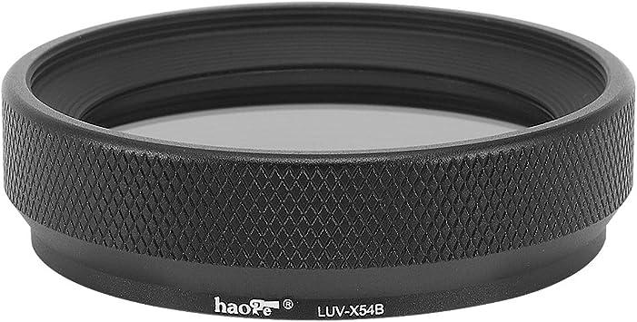 Haoge LUV-X54W color plateado protecci/ón UV Parasol de metal para c/ámara Fujifilm Fuji X100V