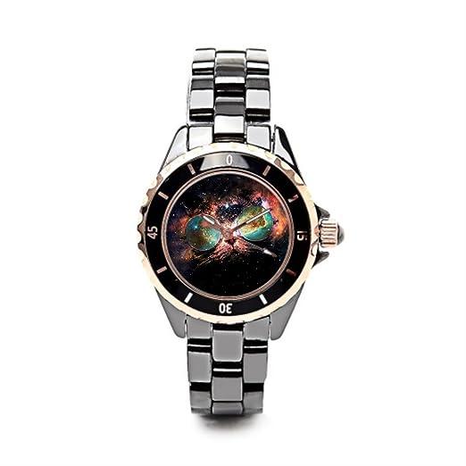 Queensland Ladies cerámica relojes Cool Kitty el reloj tienda Cosmic: Amazon.es: Relojes