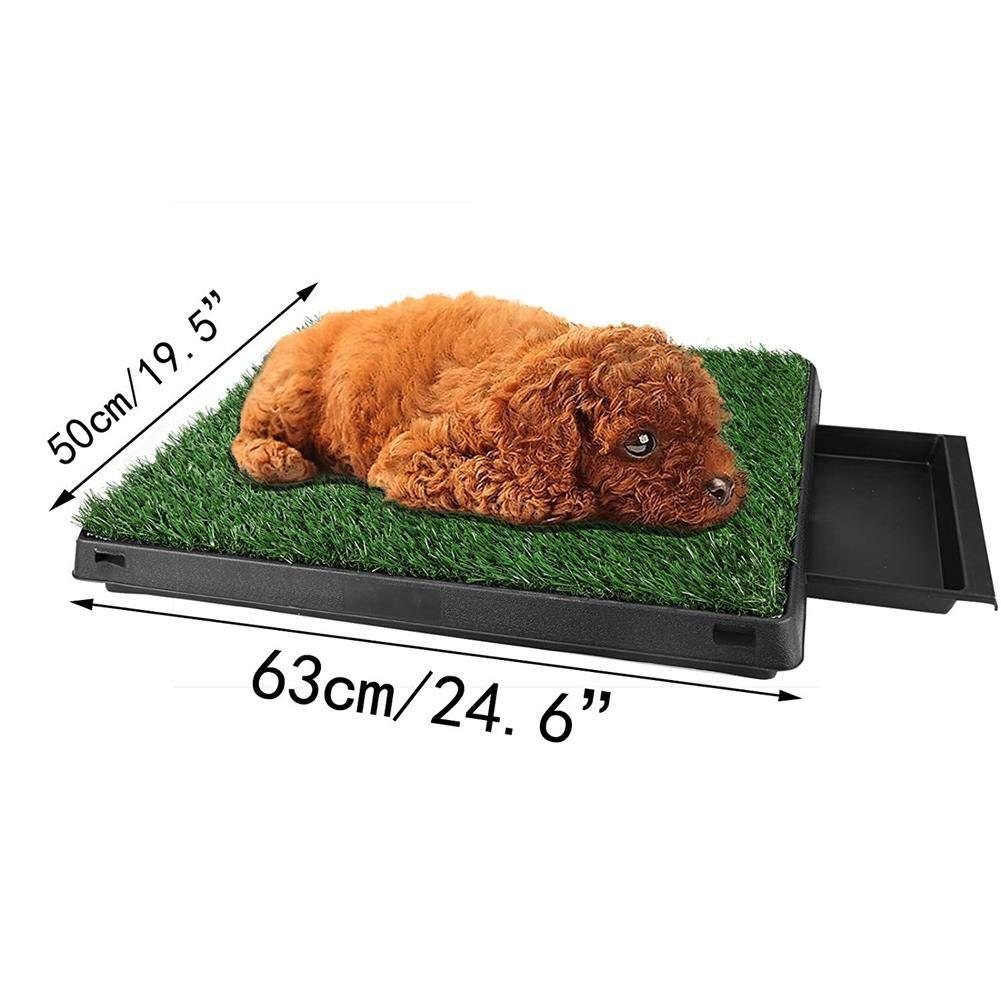IW.HLMF Perros domésticos para Mascotas Inodoro para el Interior Estera de Entrenamiento para el Pasto de la Hierba para Mascotas Almohadillas de ...