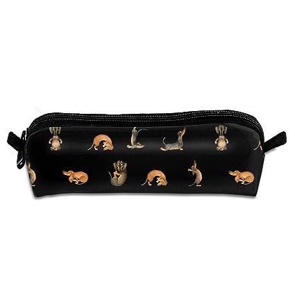 Estuche para lápices de color negro con diseño de perro ...