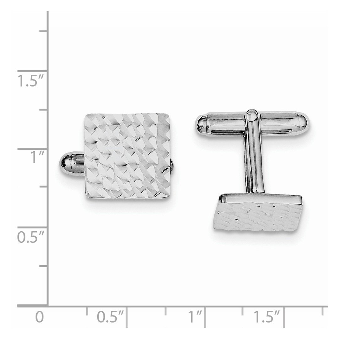 ICE CARATS 925 Sterling Silver Square Cuff Links Mens Cufflinks Man Link Fine Jewelry Dad Mens Gift Set by ICE CARATS (Image #3)